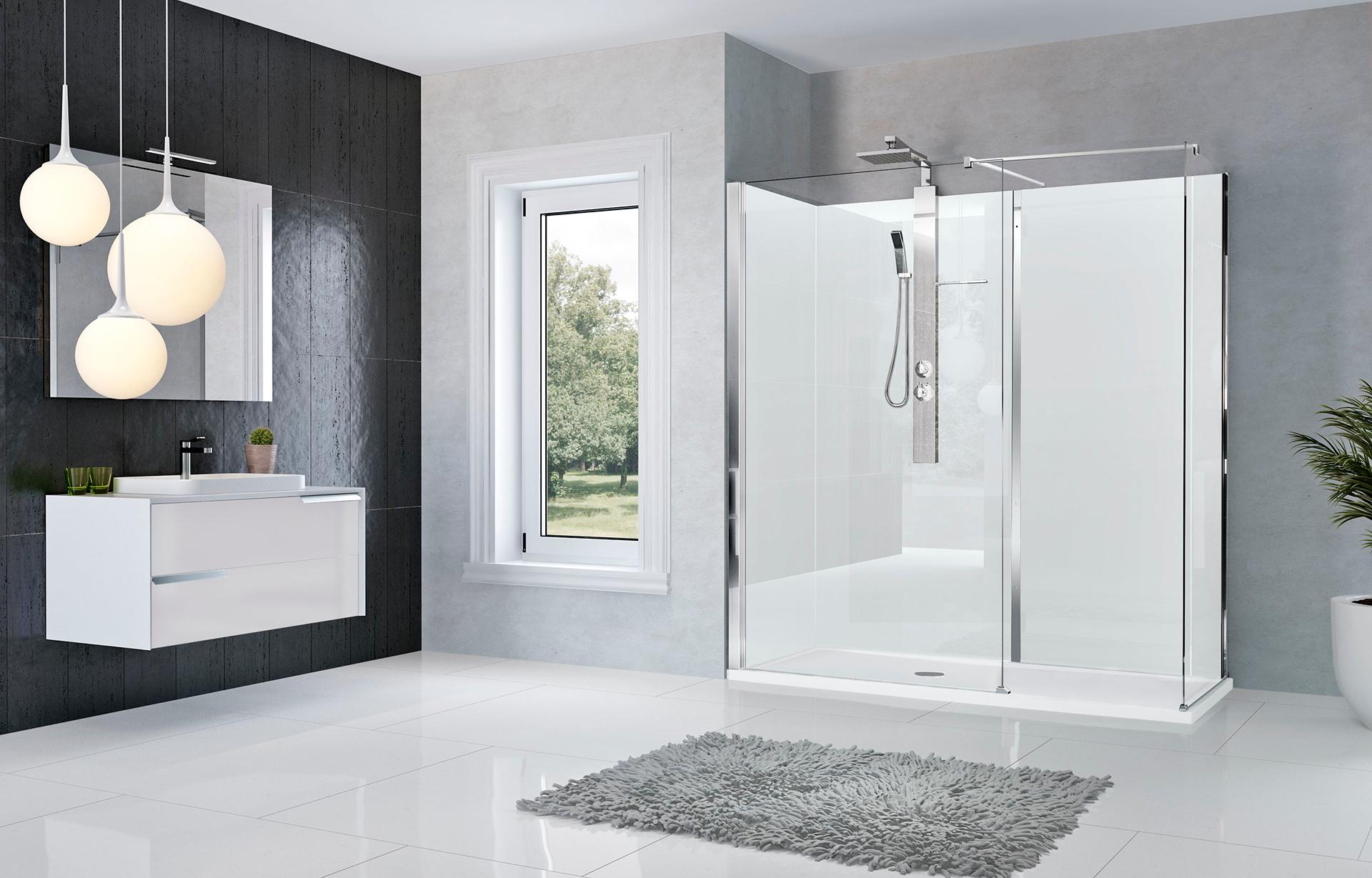 Moderne badkamer met veel hout mooie badkamer waar veel hout is