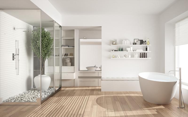 Douchen in een moderne badkamer | Bouwcenter